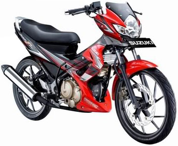MX vs Honda CS-1 vs Suzuki Satria vs Kawasaki Athlete Terbaru 2013